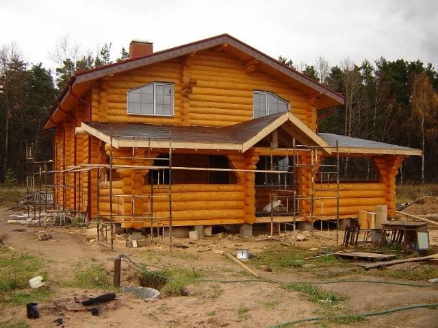 Дом из строганного бревна