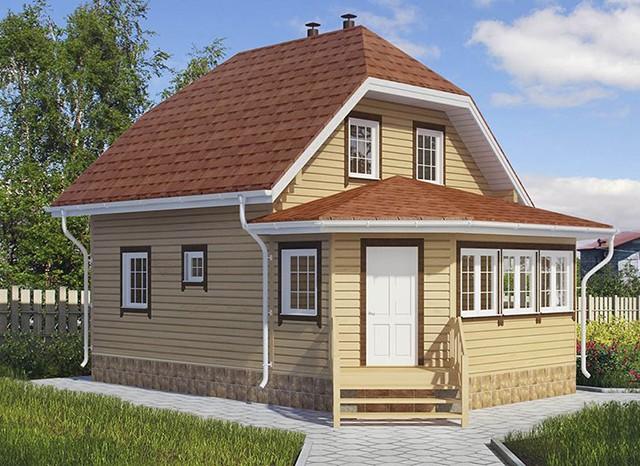 Дом из бруса 100 кв. м.