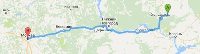 маршрут советский-москва