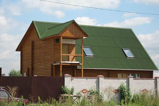 крыша из ондулина для деревянного дома