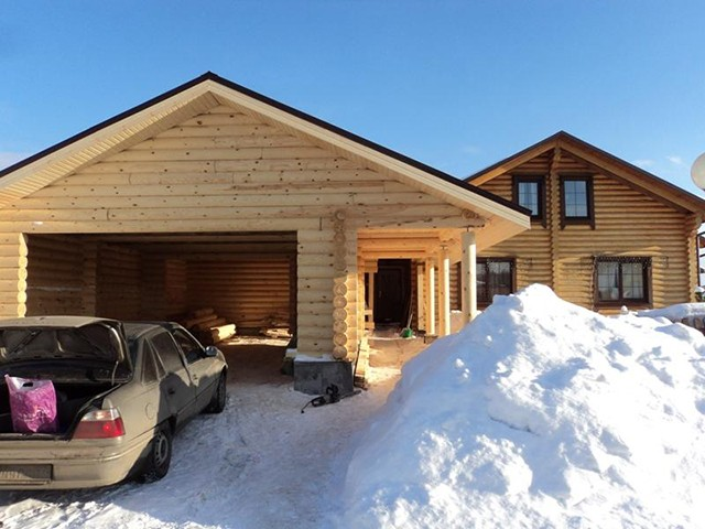 Каркасный гараж на дачу
