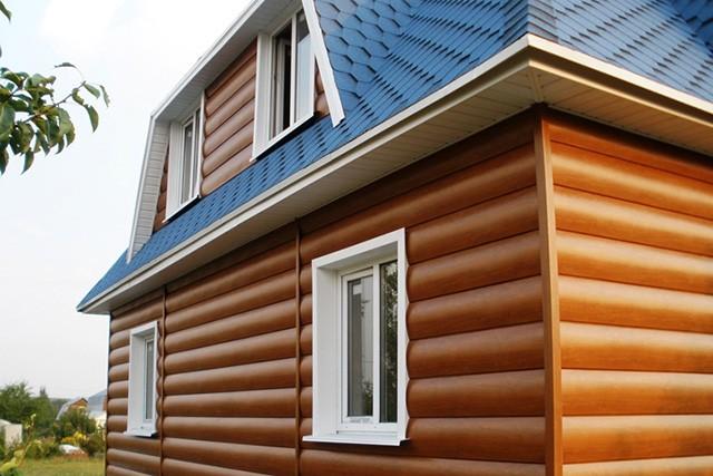 облицовка фасада деревянного дома блок-хаусом