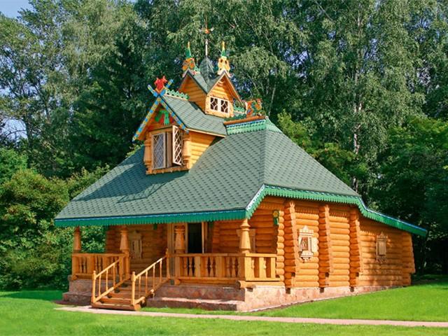 экстерьер деревянного дома из бревна