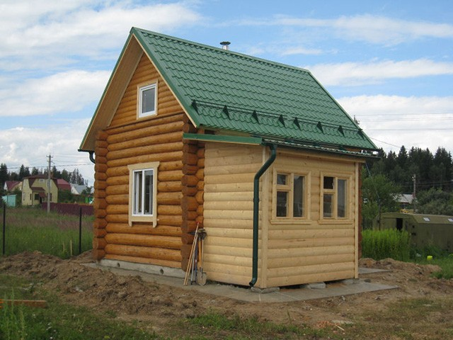 пристрой к деревянному дому