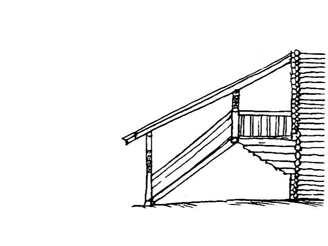 лестница для висячего крыльца