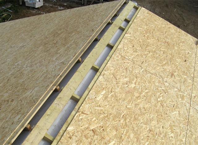 вентиляционный зазор в коньке крыши