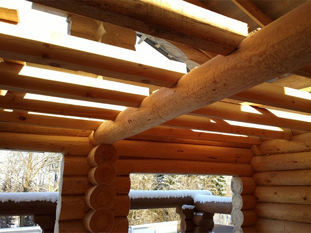 перекрытие пролета в деревянном доме