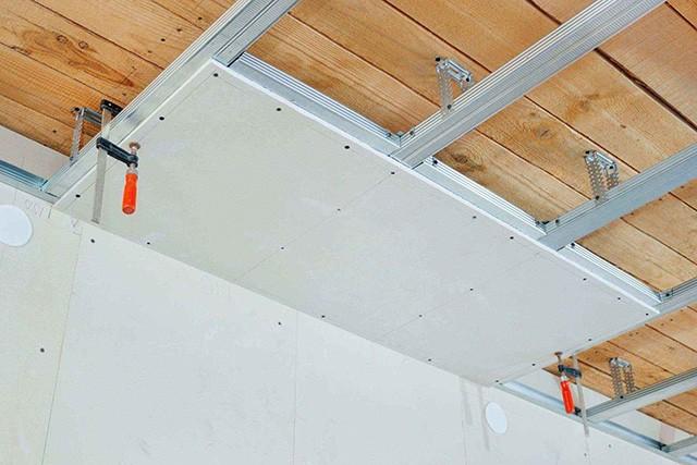 обшивка стен и потолка гипсокартоном