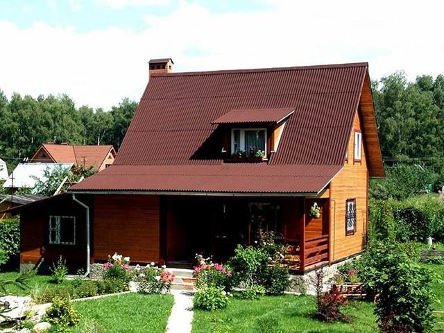 ондулин на крышу дома