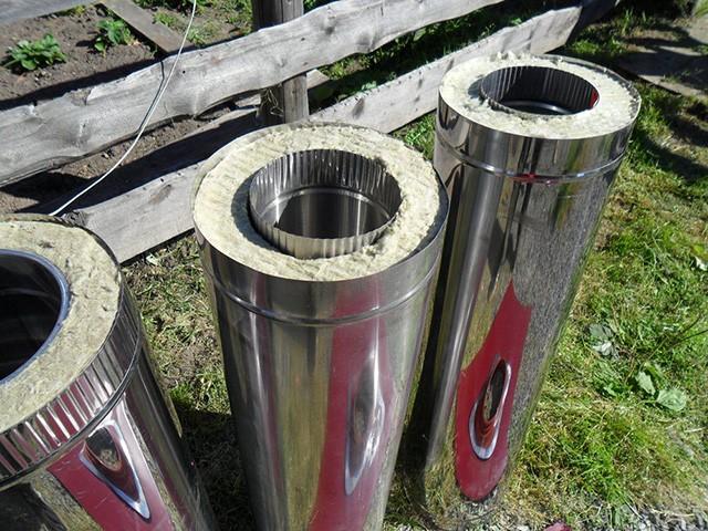 металлические дымовые трубы для дома