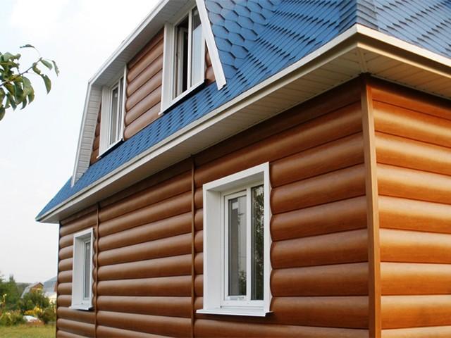 блок-хаус для облицовки деревянного дома