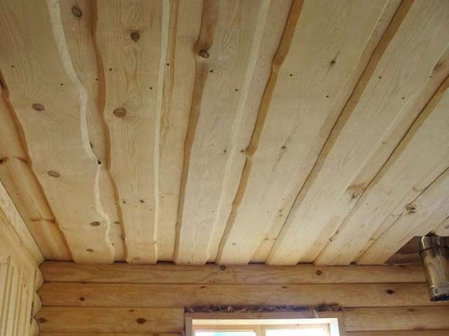 необрезная доска для отделки потолка