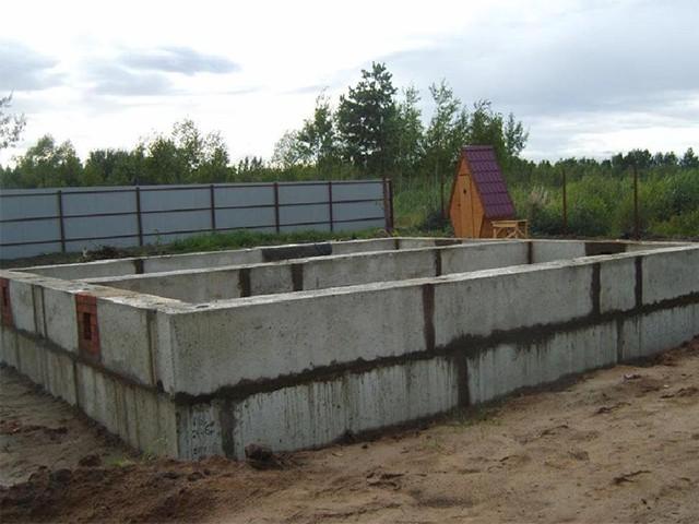блочный фундамент для бани