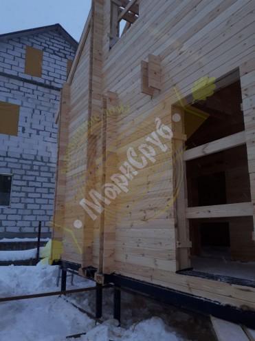 Дом из двойного бруса в Люберецком районе