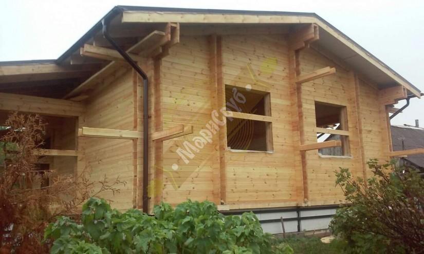 Дом из двойного бруса в селе Симбелей