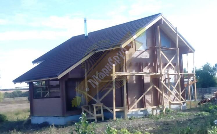 Дом из двойного бруса в селе Третьи Левые Ламки