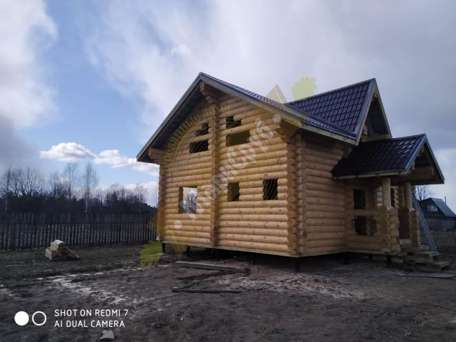 Дом из ОЦБ 260 МО,городской округ Шаховская ,с.Никольское