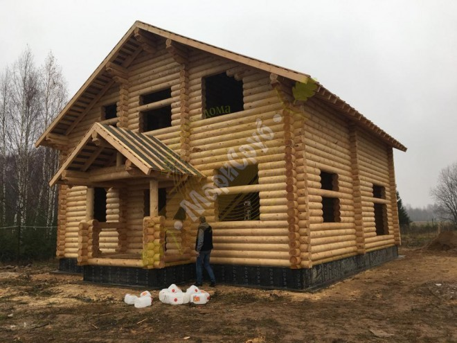 Дом из ОЦБ 220 МО,Рузский р-н,д.Лызлово